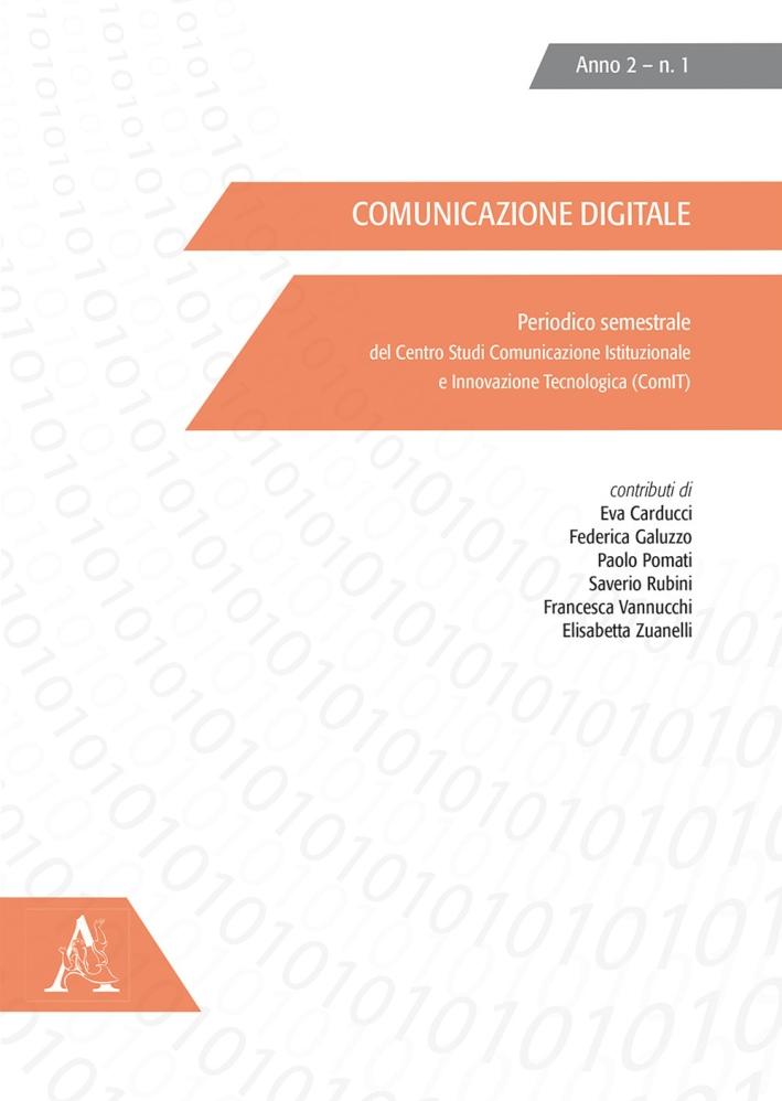 Comunicazione digitale (2015). Vol. 1