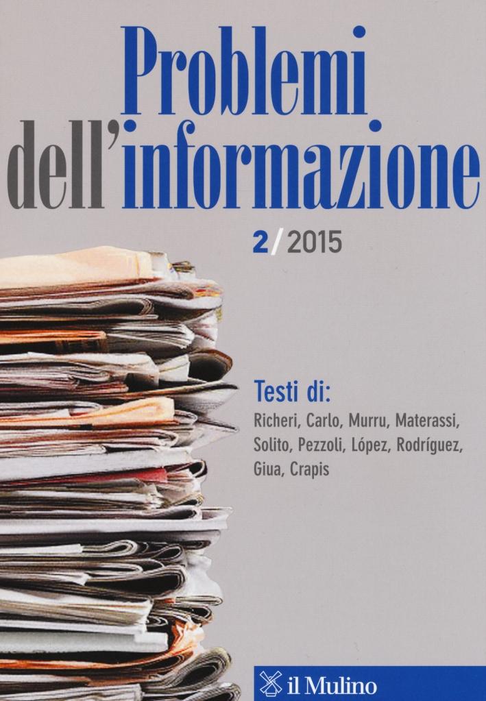 Problemi dell'informazione (2015). Vol. 2.