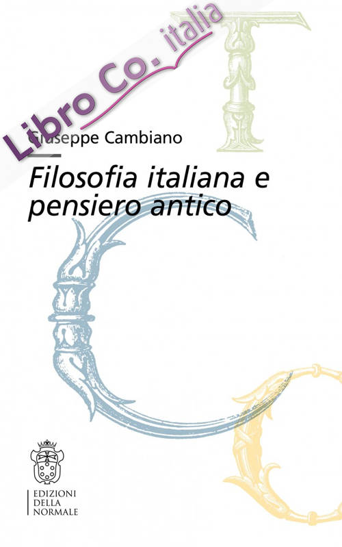 Filosofia italiana e pensiero antico.