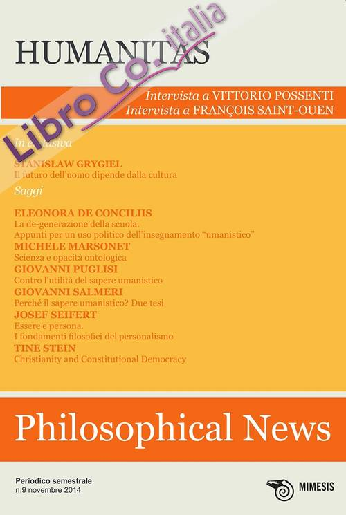 Philosophical news. Vol. 9: Humanitas.