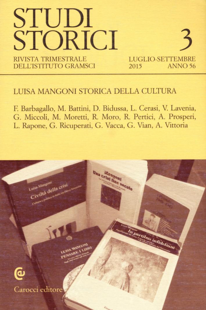 Studi Storici (2015). Vol. 3