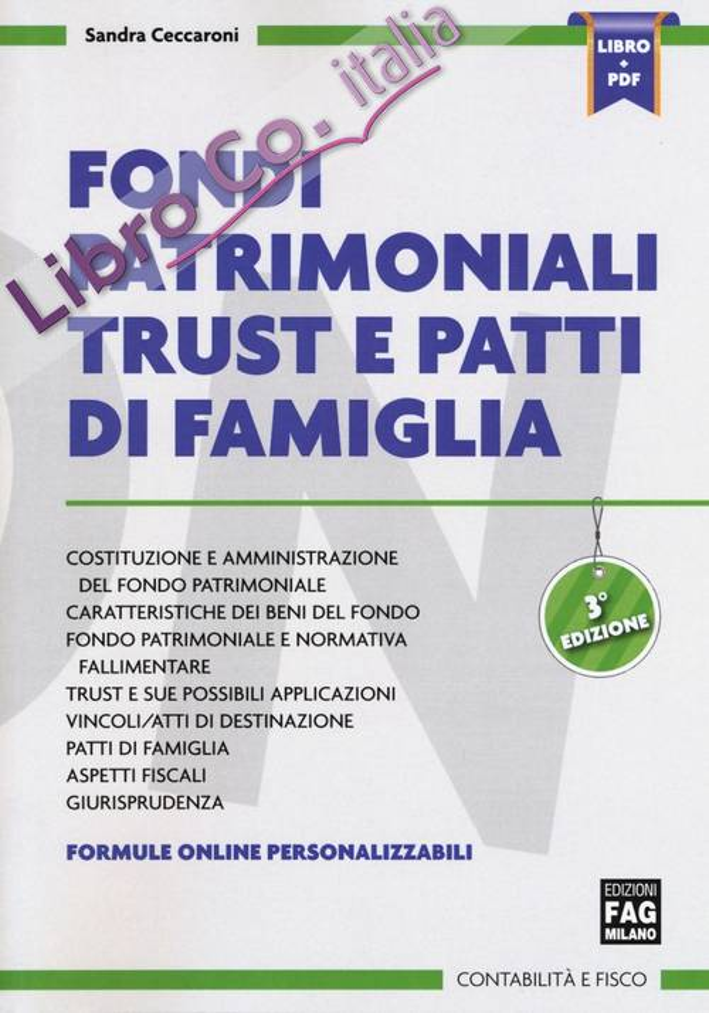 FONDI PATRIMONIALI TRUST E PATTI FAMIGLI.