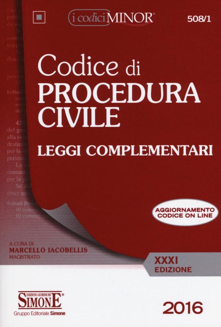 Codice di procedura civile. Leggi complementari. Ediz. minor. Con aggiornamento online