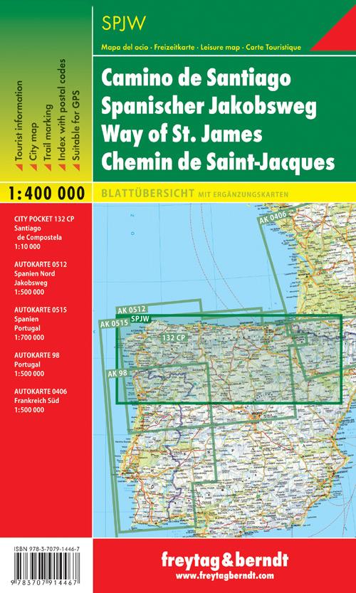 Cammino di Santiago 1:400.000