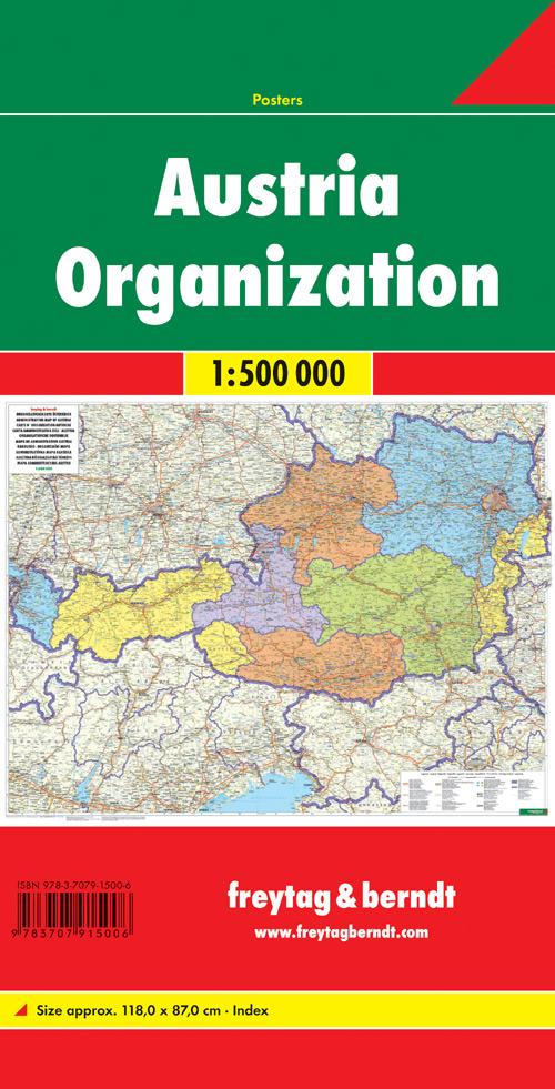 Austria organisation 1:500.000