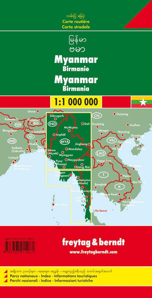 Myanmar-Burma 1:1.000.000.