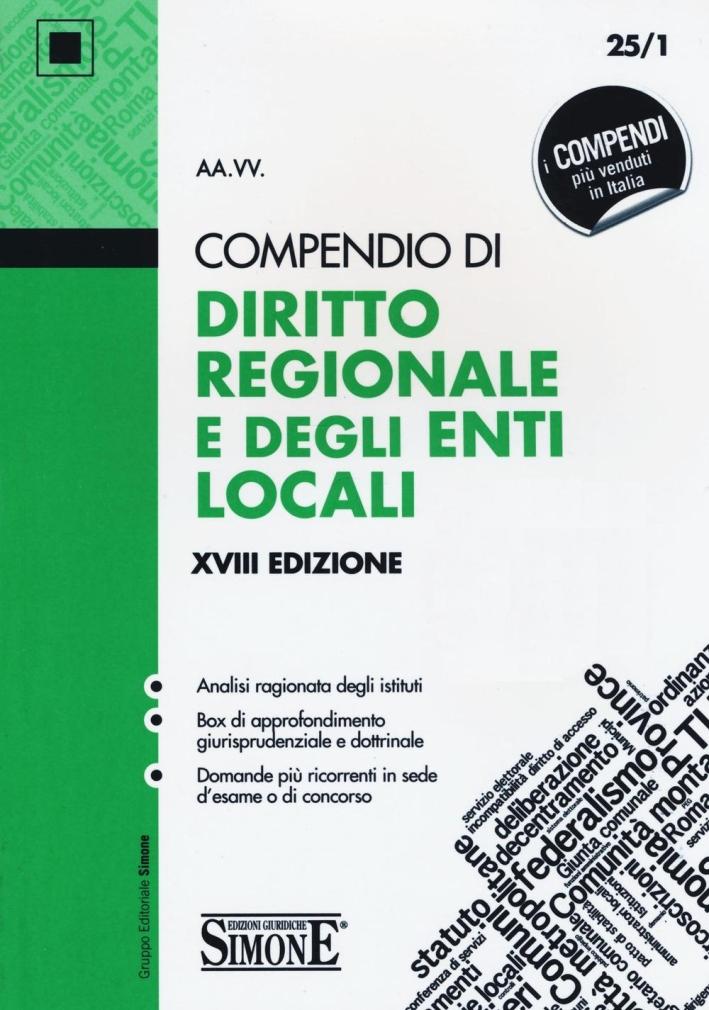 Compendio di diritto regionale e degli enti locali.