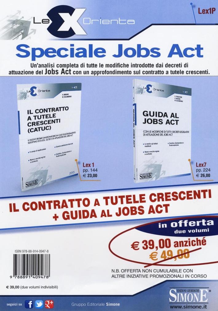 Il contratto a tutele crescenti (CATUC)-Guida al jobs act