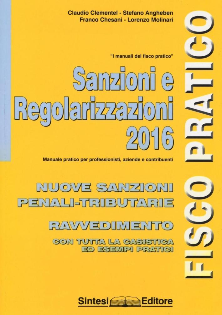 Sanzioni e regolarizzazioni 2016