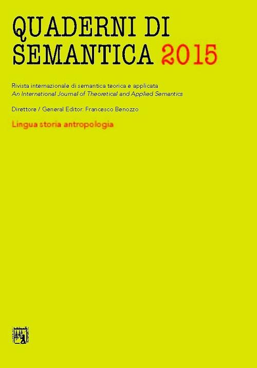 Quaderni di semantica (2015). Vol. 1