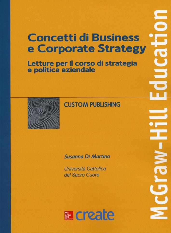 Concetti di business e corporate strategy.