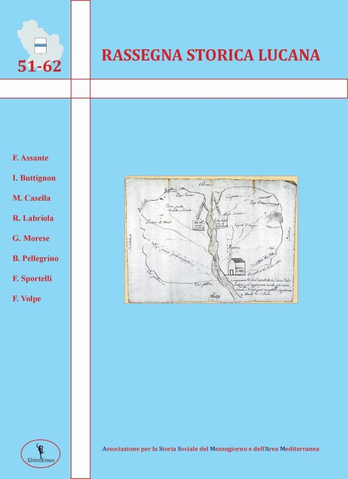 Rassegna storica lucana vol. 51-62.