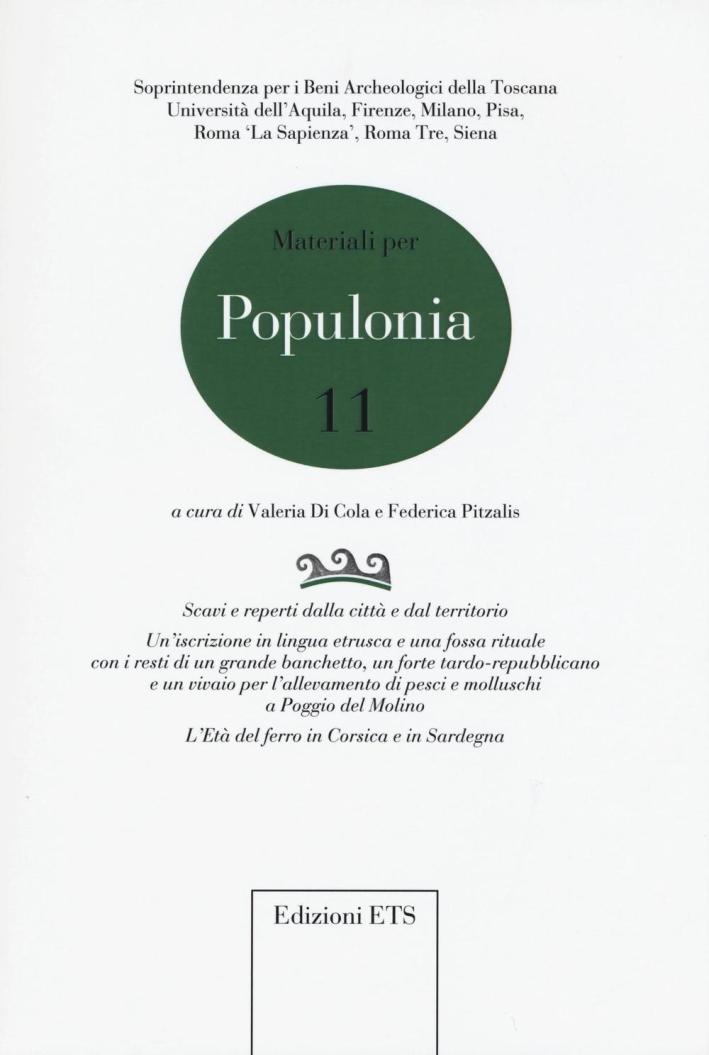 Materiali per Populonia. Vol. 11.