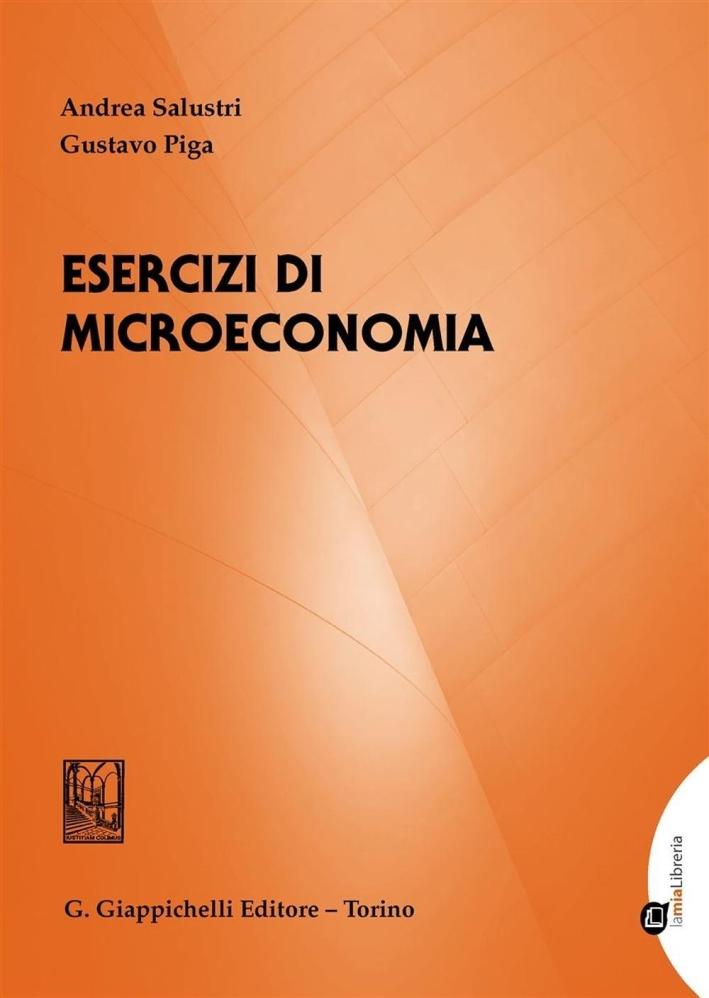 ESERCIZI DI MICROECONOMIA.