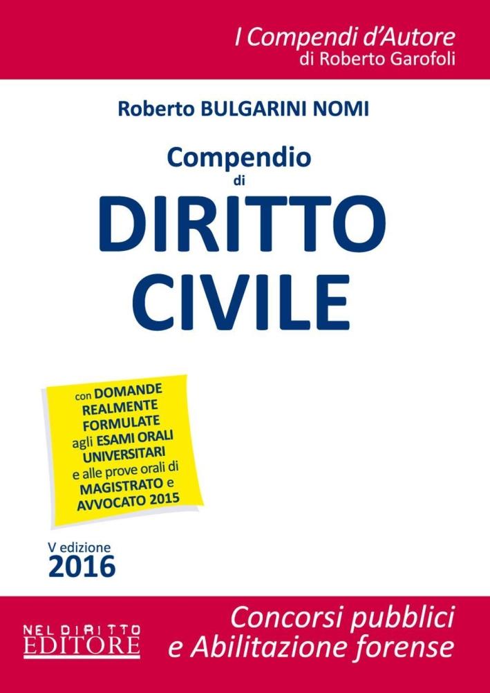 Compendio di diritto civile. Con espansione online.