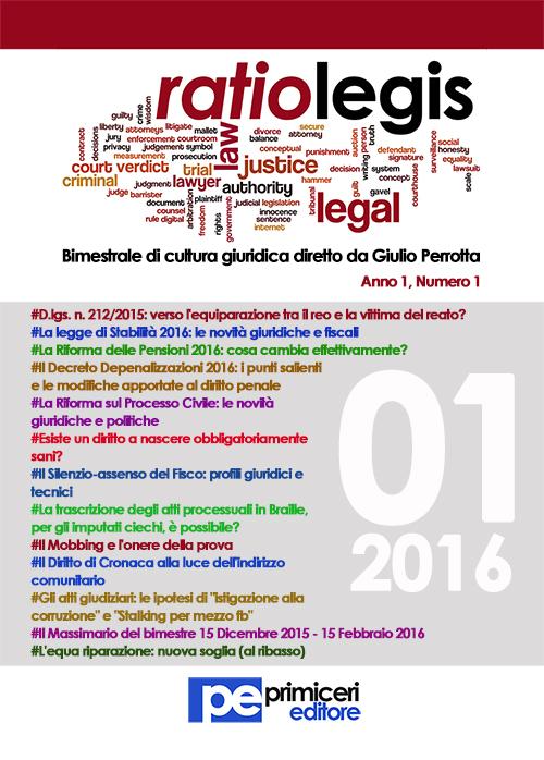 Ratio legis (2016). Vol. 1.