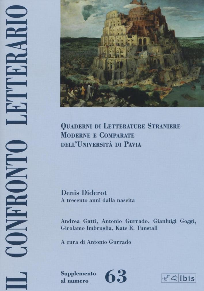 Il confronto letterario. Quaderni di letterature straniere moderne e comparate dell'Università di Pavia. Supplemento. Vol. 63