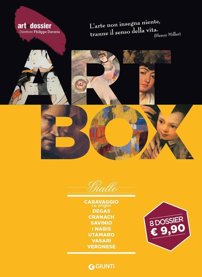Dossier d'art. Box giallo: Caravaggio. Le originiDegasCranachSavinioNabisUtamaroVasariVeronese
