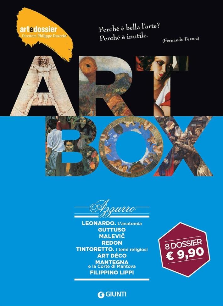 Dossier d'art. Box azzurro: Leonardo. L'anatomiaGuttusoMalevicRedonTintorettoArt DécoMantegnaFilippino Lippi
