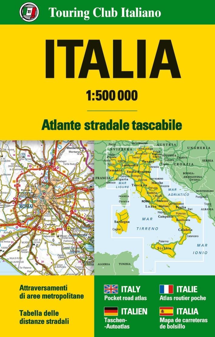 Italia Atlante stradale tascabile 1:500.0000.