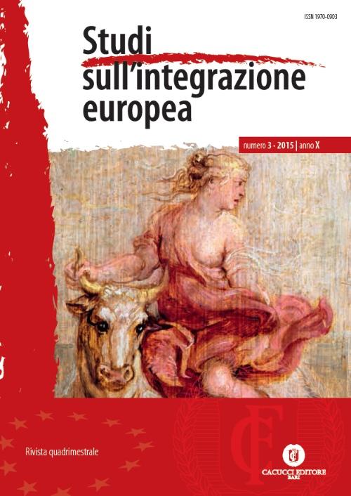 Studi sull'integrazione europea (2015). Vol. 3