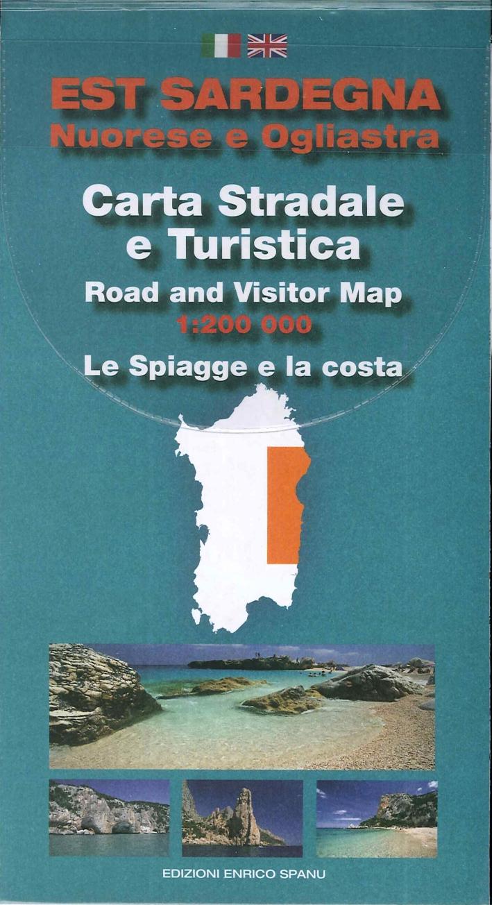 Cartina Est Sardegna Stradale e Turistica (Con Oltre 30 Schede Spiagge con Descrizione It e En e Foto)