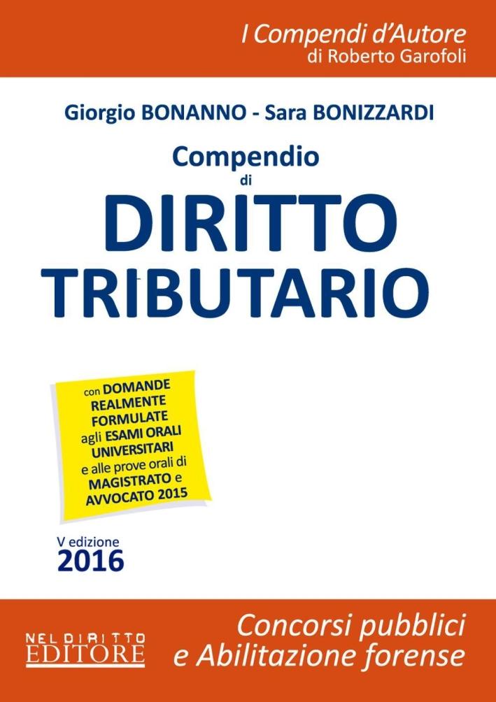 Compendio di Diritto Tributario. Con Aggiornamento Online.