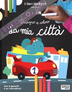 La mia città. Disegno e coloro. Libri lavagna. Ediz. illustrata. Con gadget