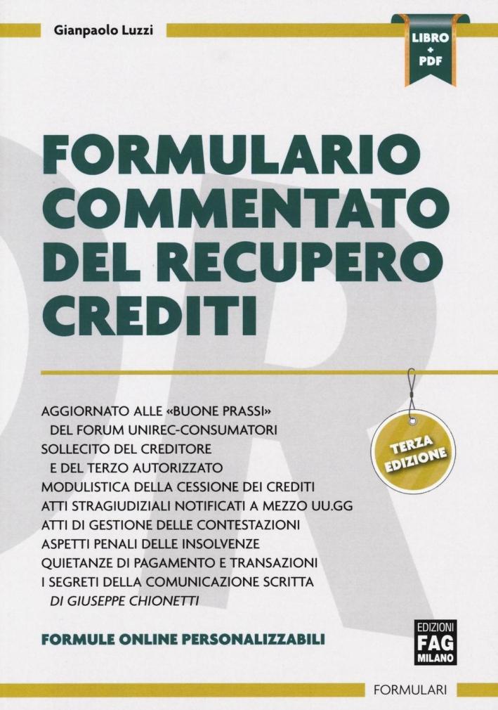 Formulario Commentato del Recupero Crediti