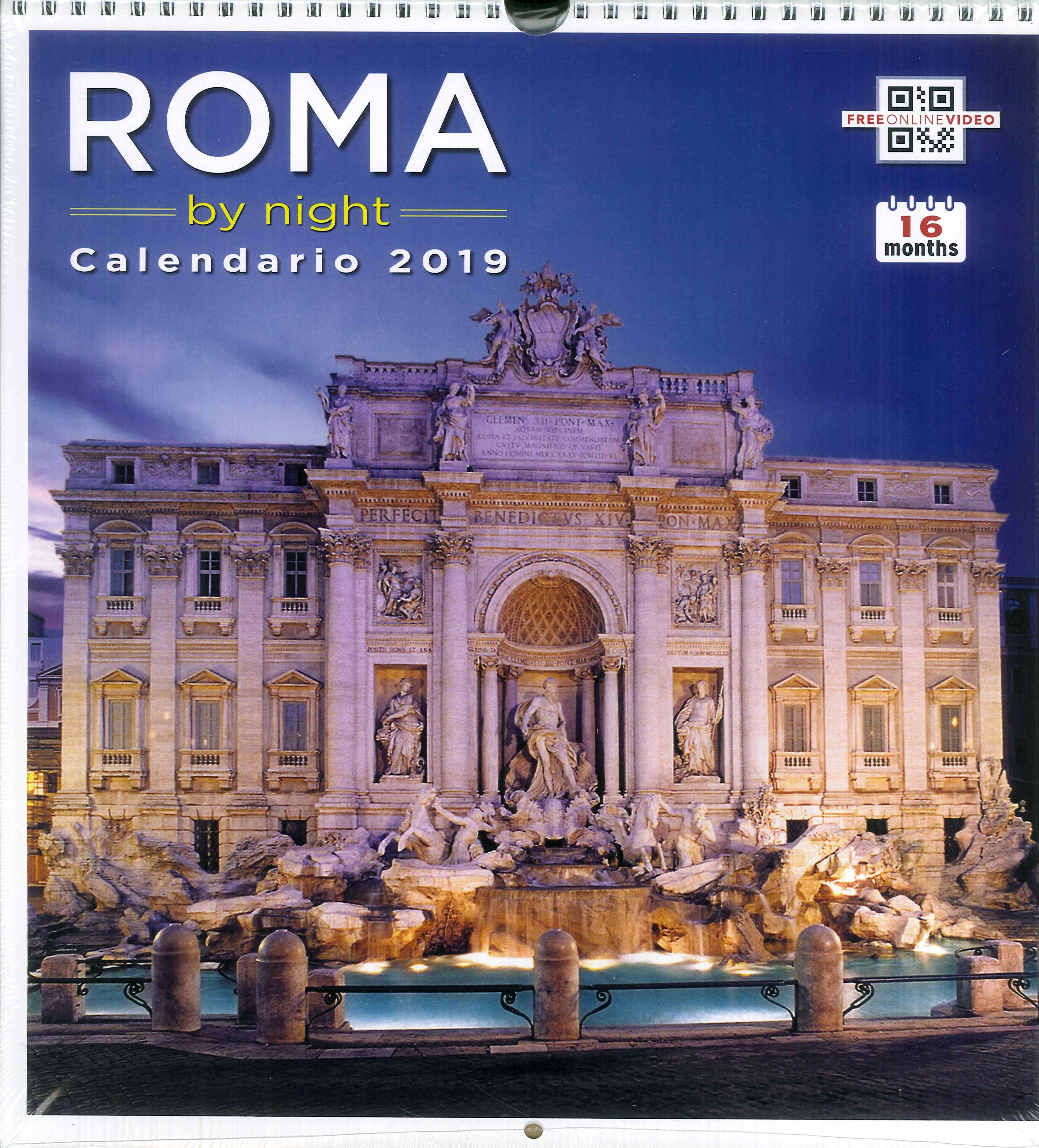 Calendario As Roma 2019.9788884381446 2016 Roma By Night Calendario Grande 2019