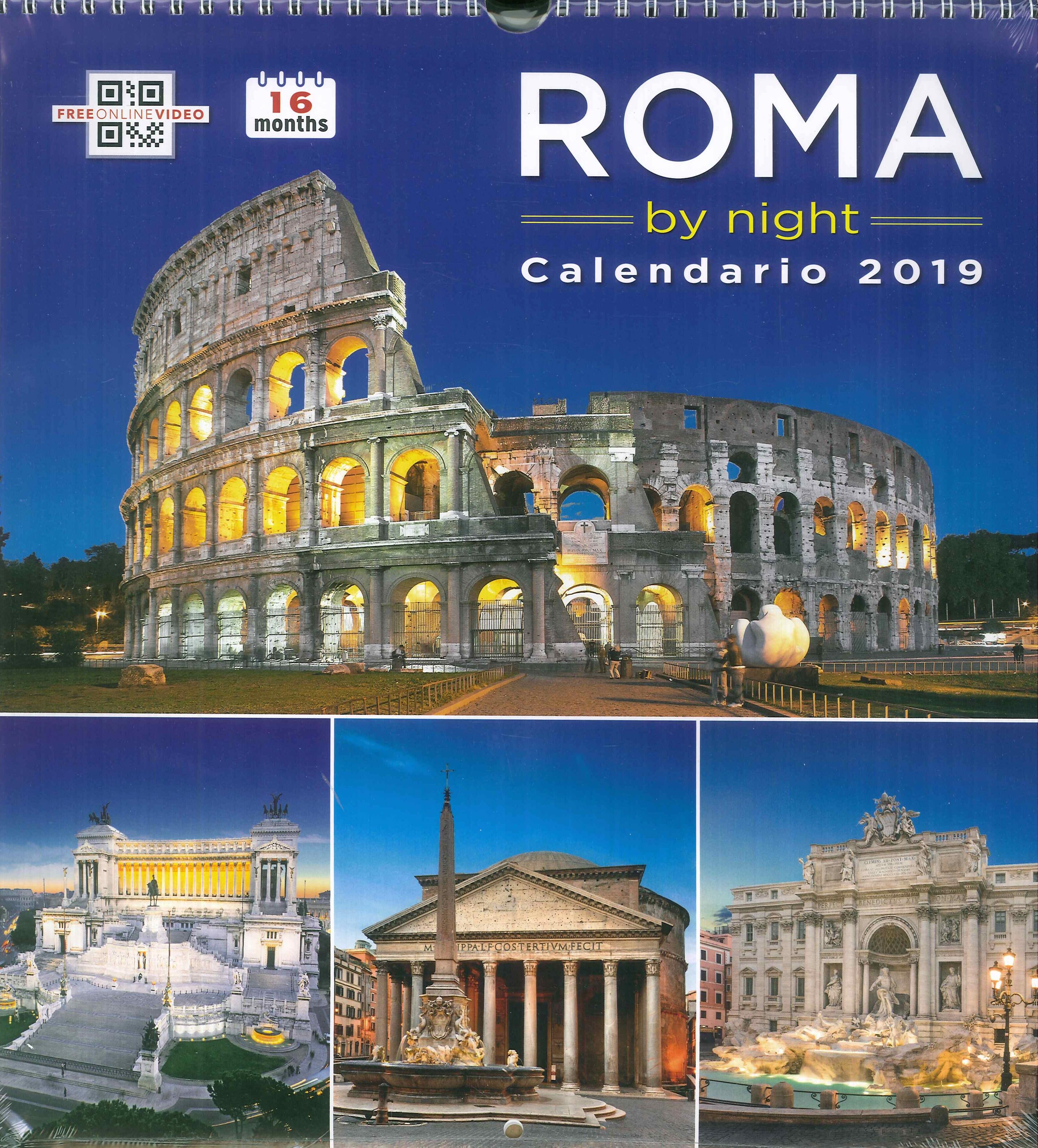 Calendario As Roma 2019.9788884385222 2016 Roma By Night Calendario Grande 2019