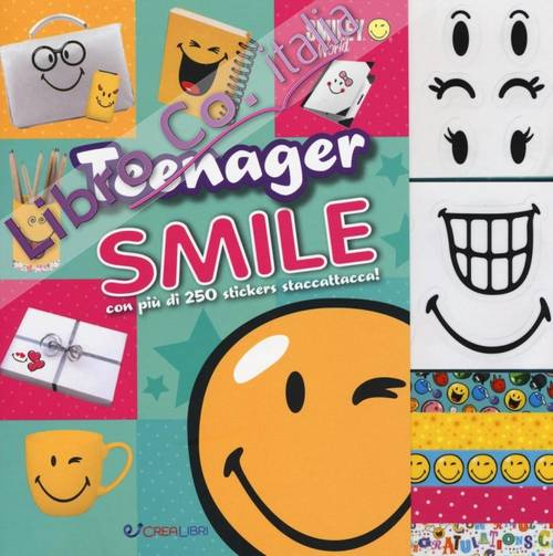 Teenager smile. Smiley world. Con adesivi