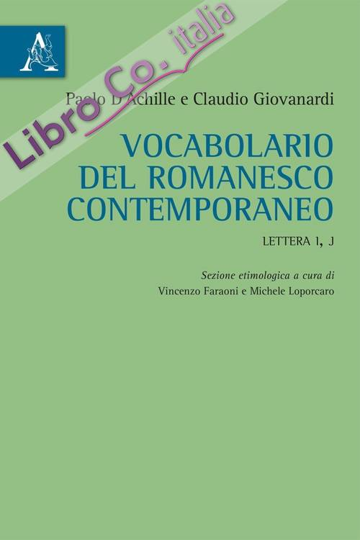 Vocabolario del romanesco contemporaneo. Lettera I, J.