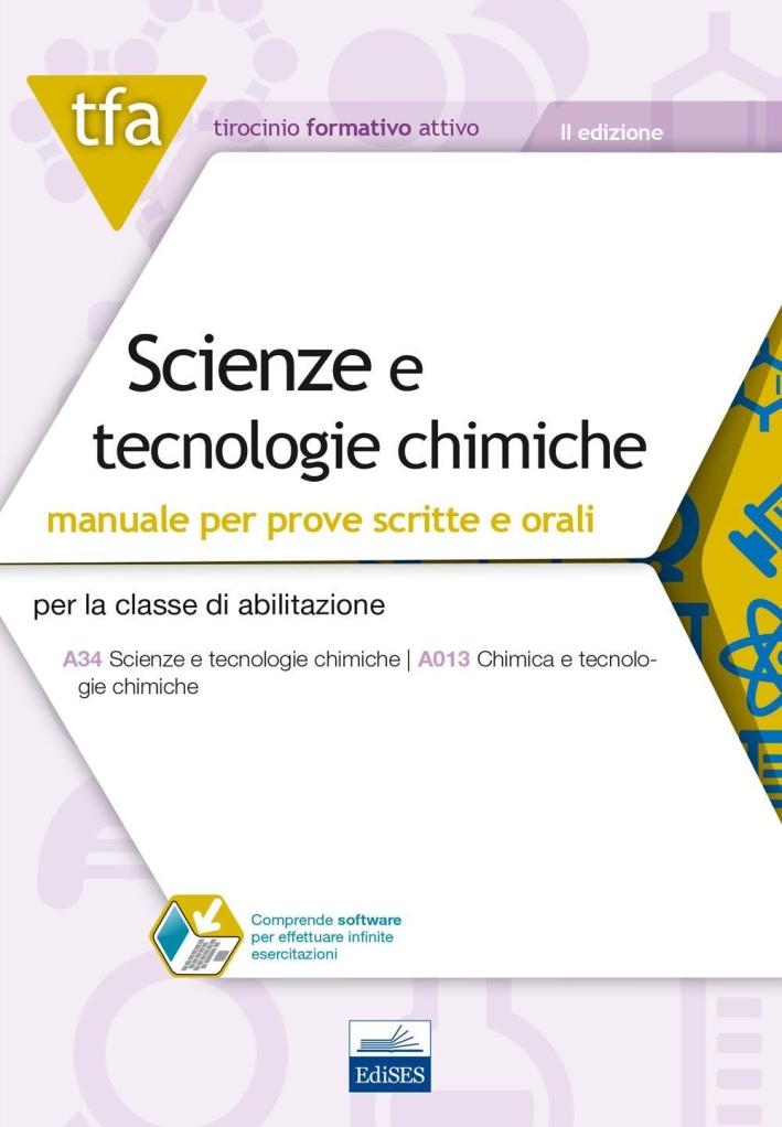 TFA. Scienze e tecnologie chimiche. Manuale teorico. Con software di simulazione.