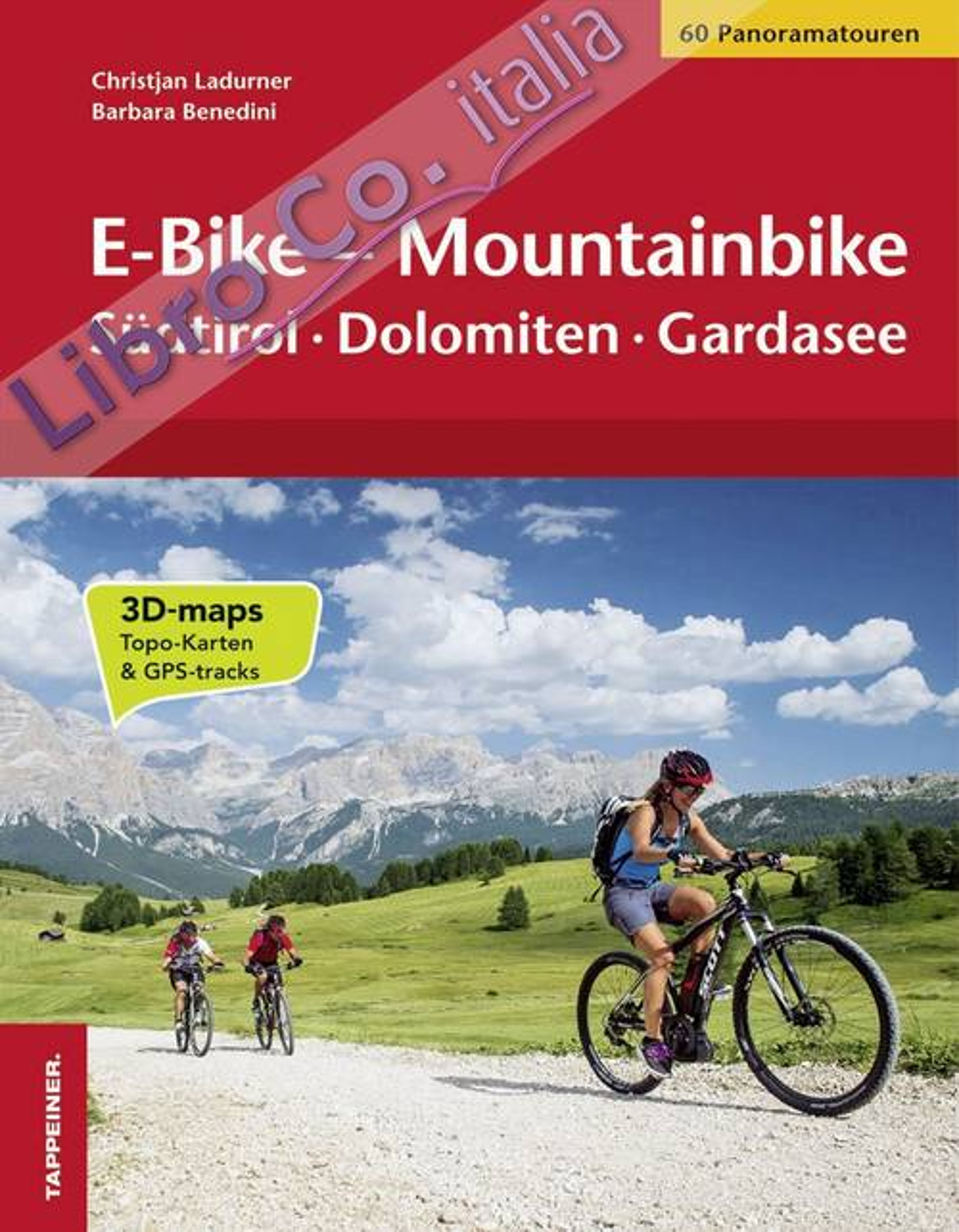 E-bike-mountainbike. Südtirol, Dolomiten, Gardasee.