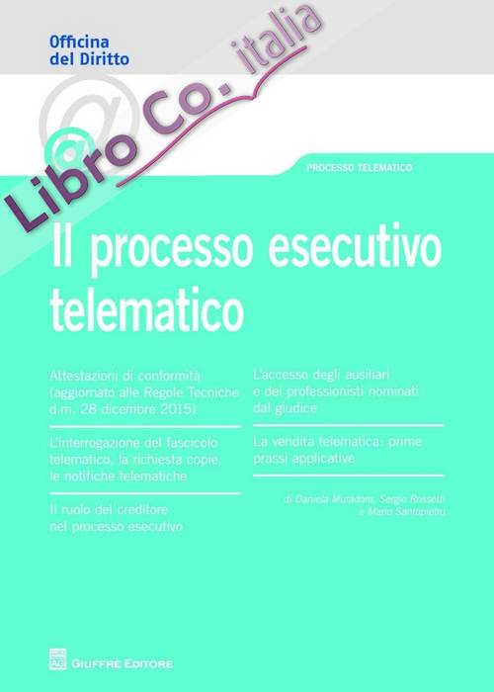 Il processo esecutivo telematico.