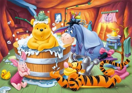 Puzzle 104 Pezzi Winnie The Pooh Bath Time.