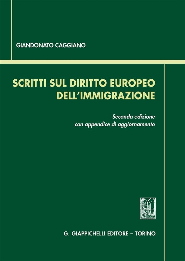 Scritti Diritto Europeo Immigrazione.