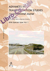Advances in transportation studies. Special issue 2016. Vol. 1.