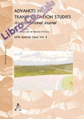 Advances in transportation studies. Special issue 2016. Vol. 2.