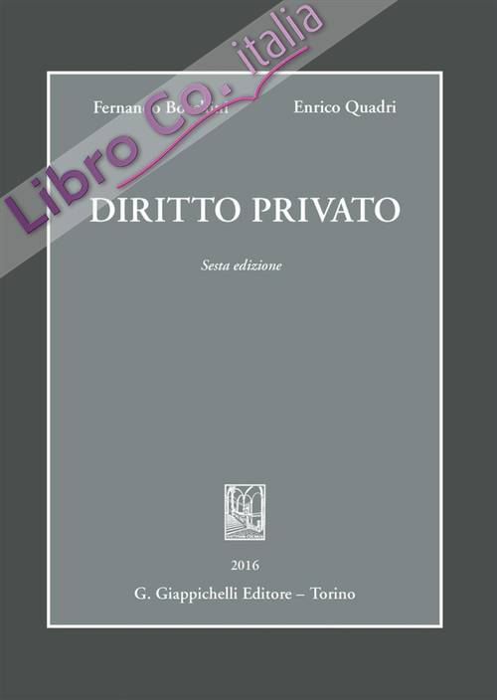 Diritto privato.