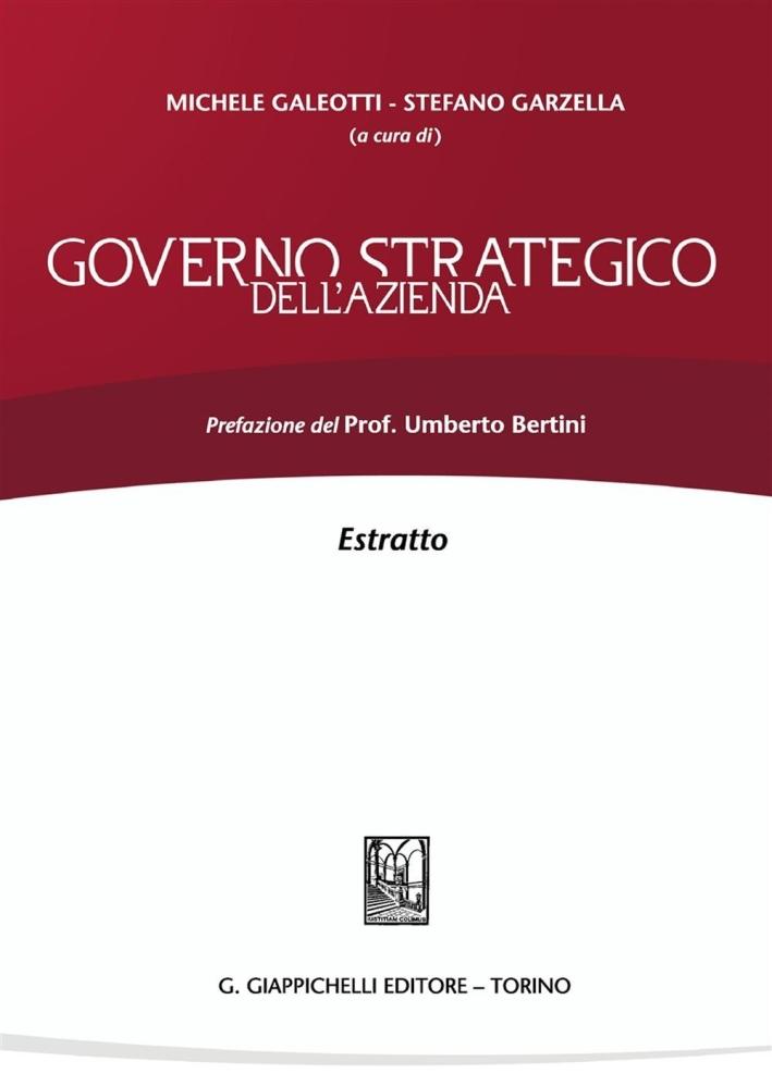 Governo strategico dell'azienda. Estratto