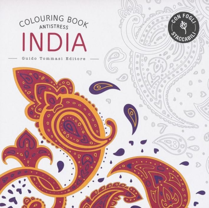 India. Colouring book antistress
