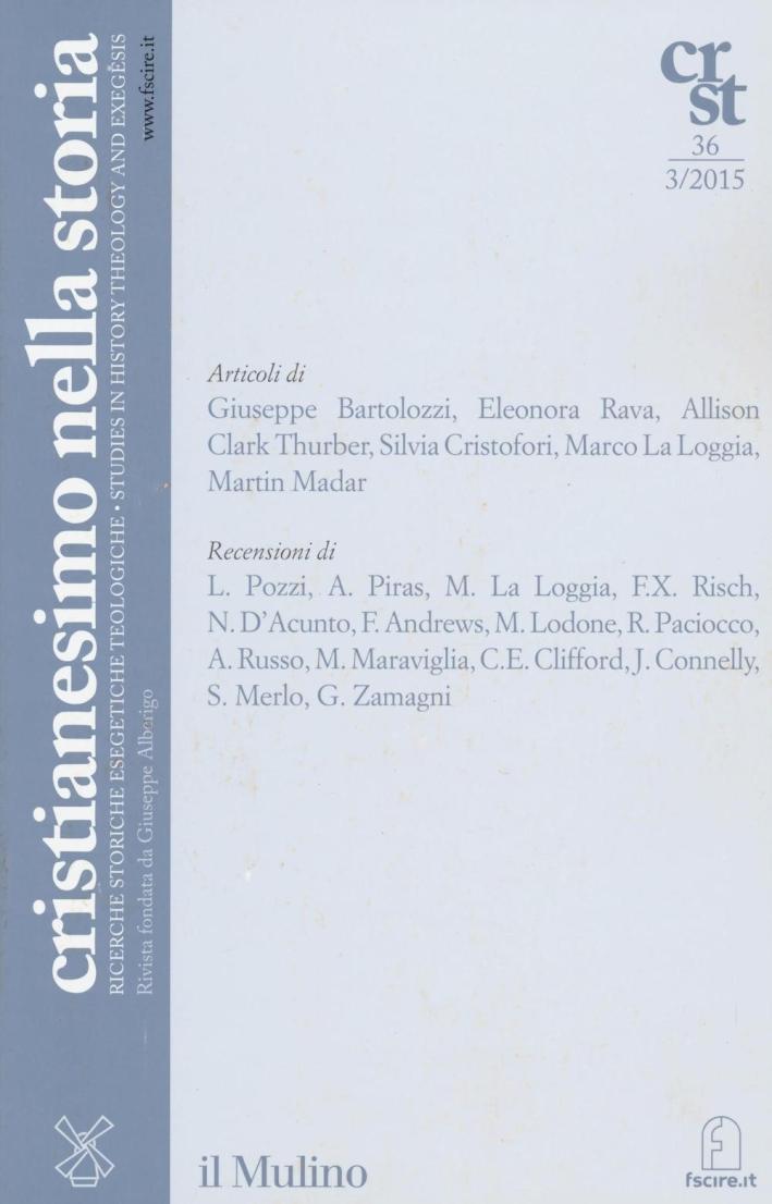 Cristianesimo nella storia (2015). Vol. 3.