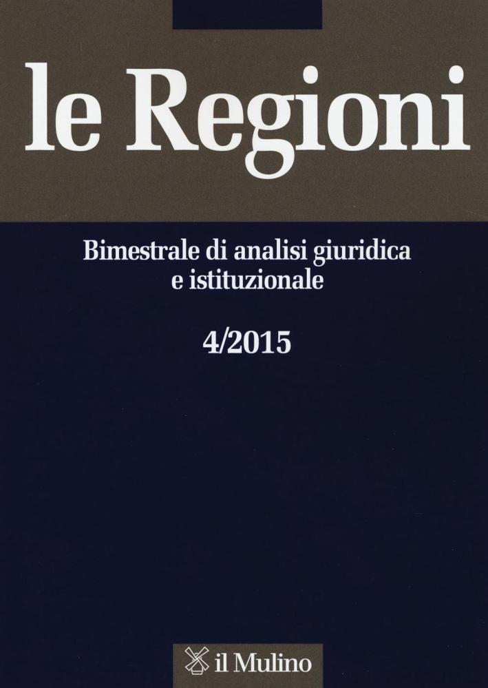 Le regioni (2015). Vol. 4