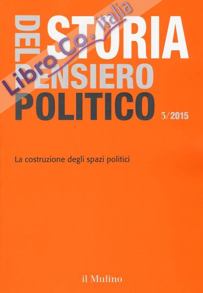 Storia del pensiero politico (2015). Vol. 3.