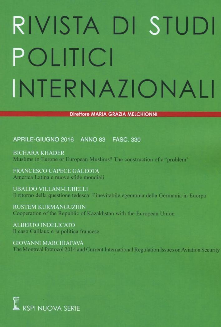 Rivista di studi politici internazionali (2016). Vol. 2.