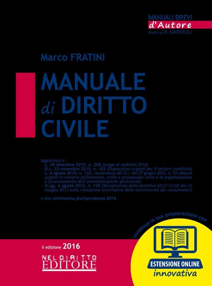 Manuale di Diritto Civile. Con Aggiornamento Online.