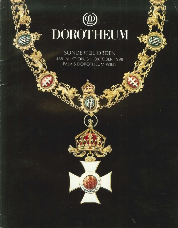 Dorotheum. Sonderteil Orden. 488. Auktion