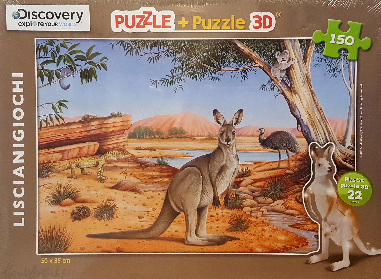 Puzzle 50x35cm + Puzzle 3D.